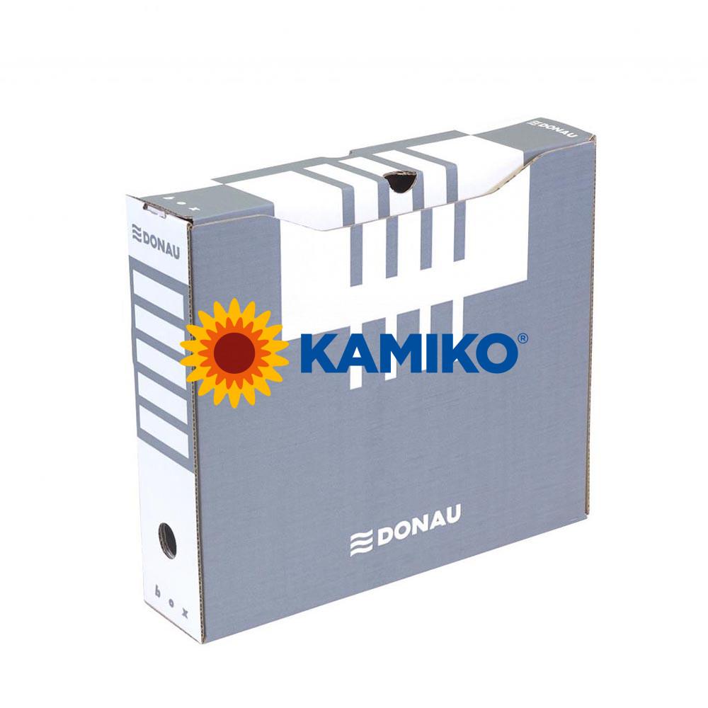 Archívny box DONAU 80 mm sivý