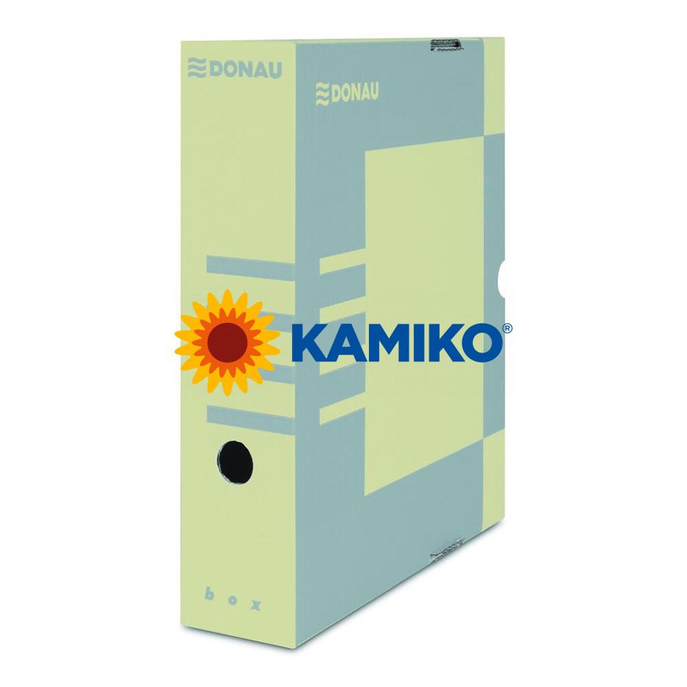 Archívny box DONAU 80 mm hnedý