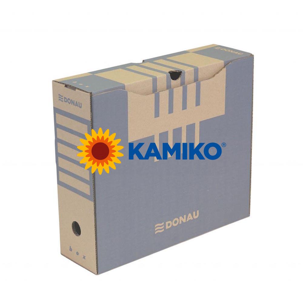 Archívny box DONAU 100 mm hnedý
