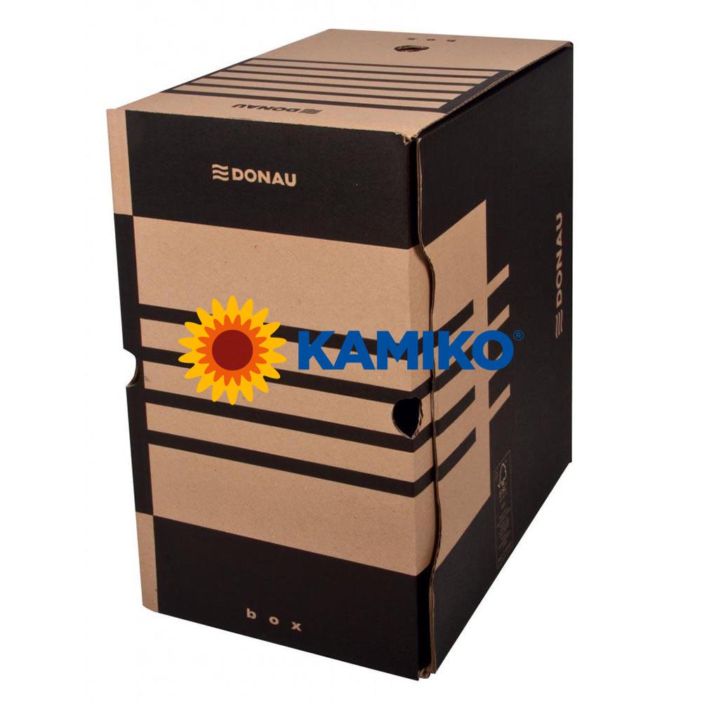 Archívny box DONAU 200 mm hnedý
