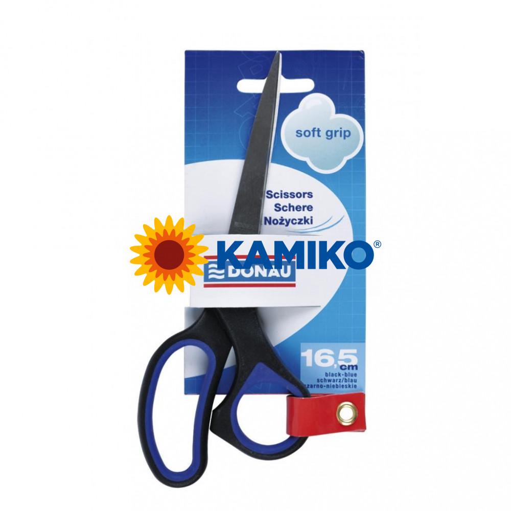 Nožnice DONAU Soft grip 16,5 cm modré