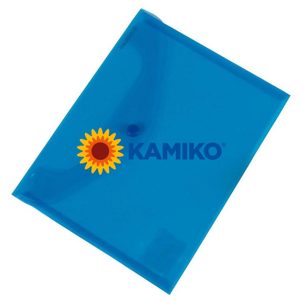 Plastový obal C5 s cvočkom DONAU modrý