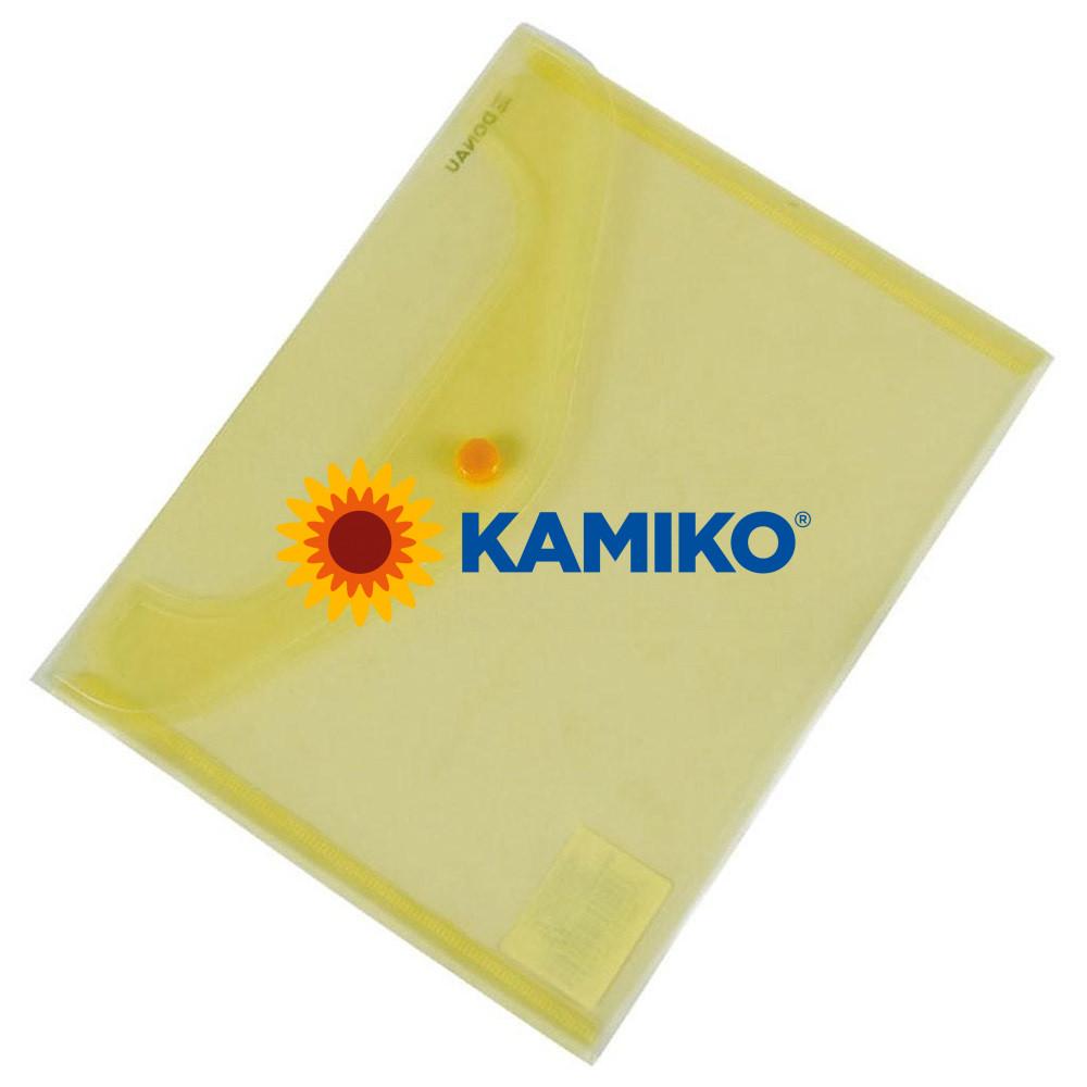 Plastový obal C5 s cvočkom DONAU žltý
