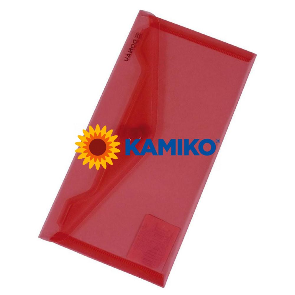 Plastový obal DL s cvočkom DONAU červený