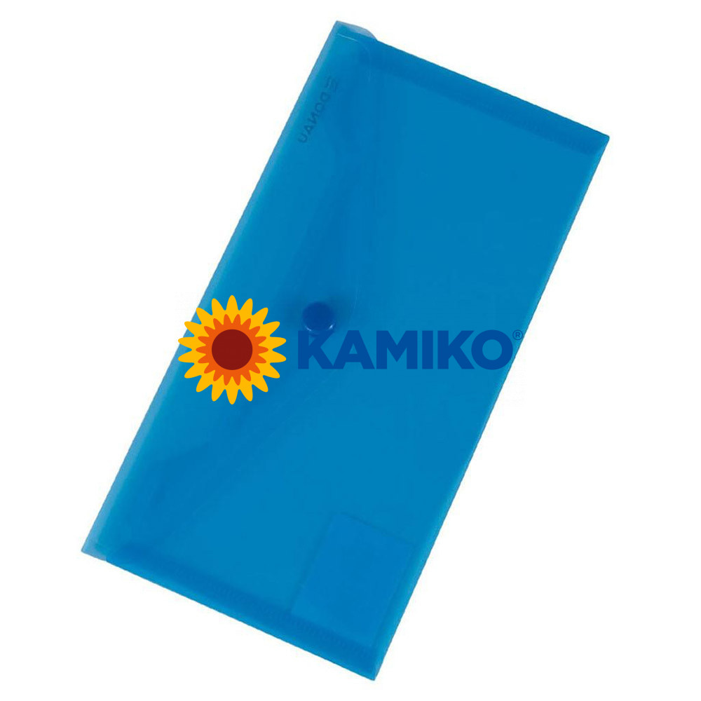 Plastový obal DL s cvočkom DONAU modrý