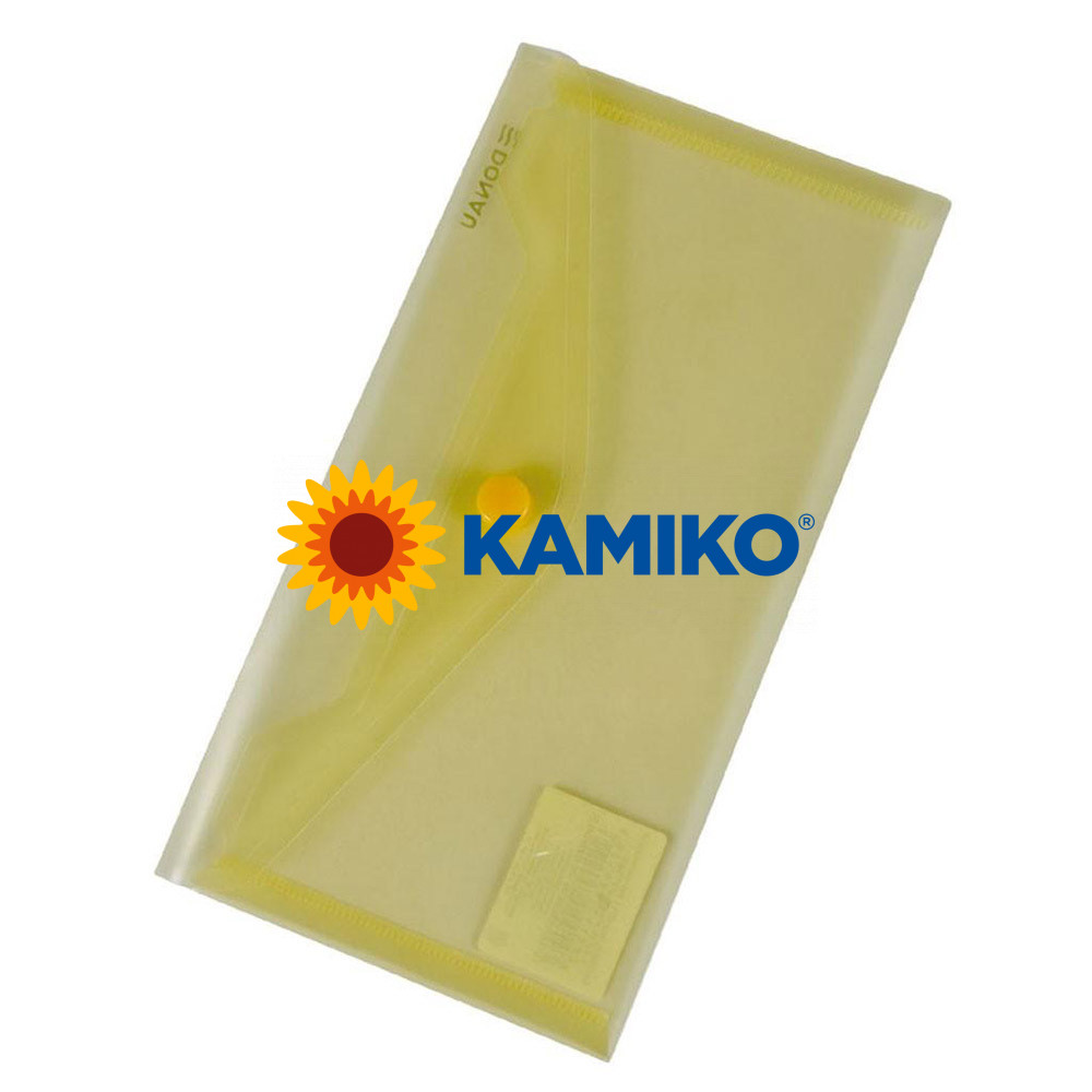 Plastový obal DL s cvočkom DONAU žltý