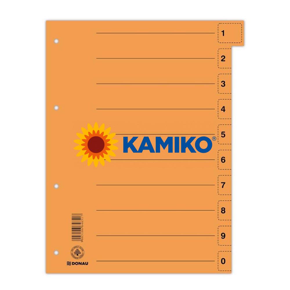 Kartónový rozraďovač DONAU odtrhávací oranžový