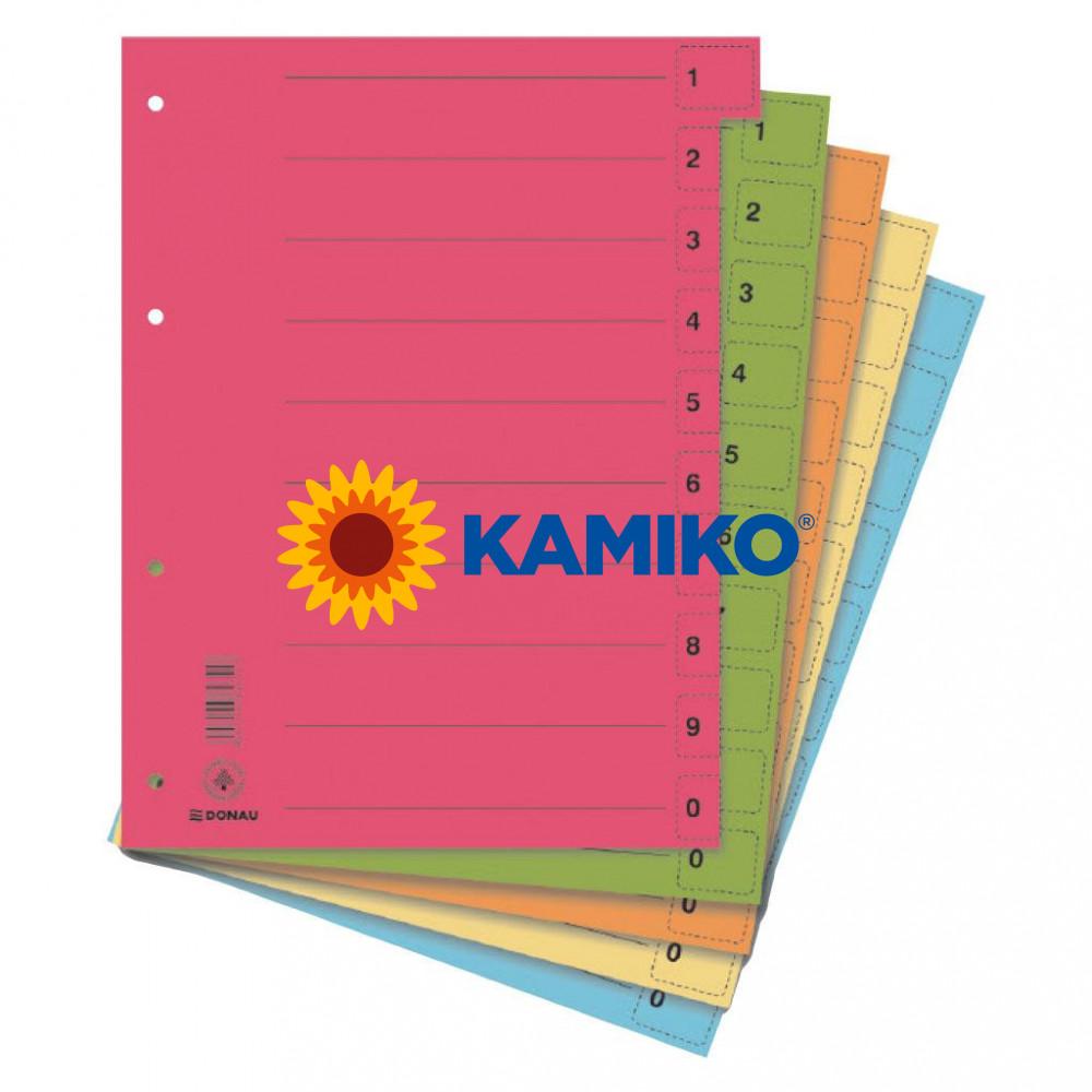 Kartónový rozraďovač DONAU odtrhávací mix farieb