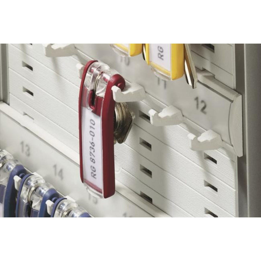 Menovky na kľúče DURABLE KEY CLIP červené, 6 ks