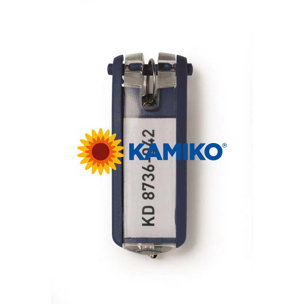 Menovky na kľúče DURABLE KEY CLIP modré, 6 ks
