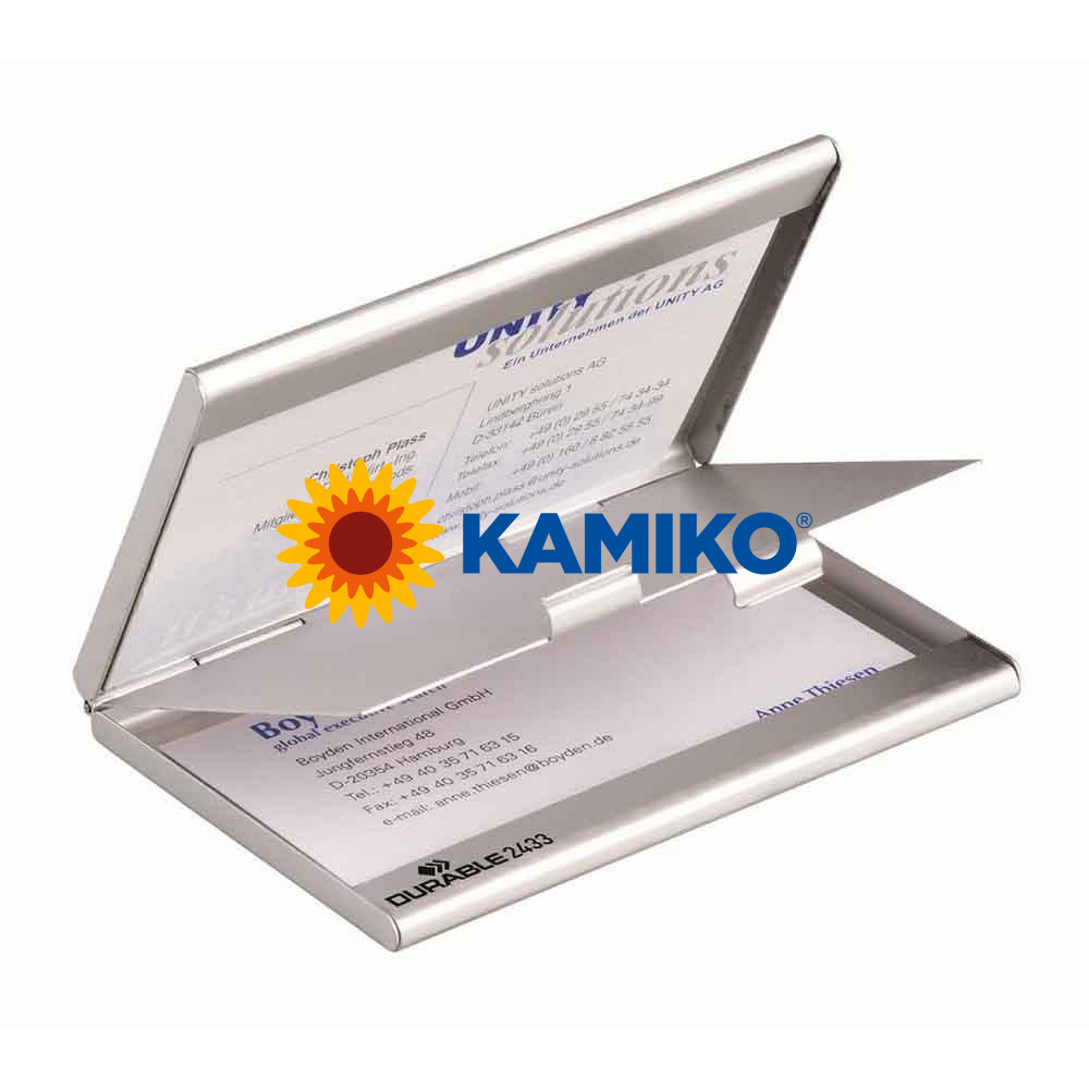 Krabička na vizitky DURABLE BUSINESS CARD BOX DUO