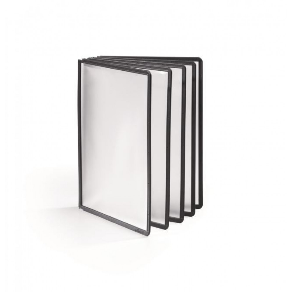 Katalógový panel SHERPA A4 čierny, 5 ks