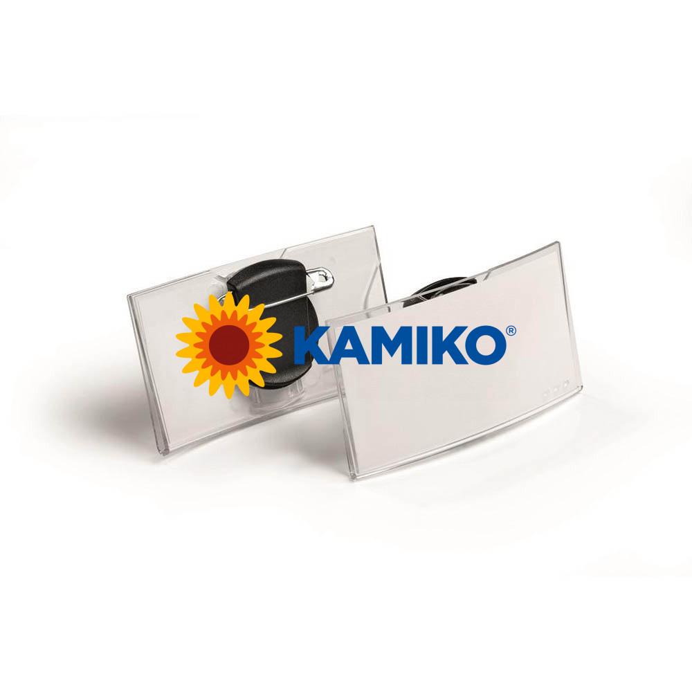 Visačka oblá akrylátová DURABLE 75 x 40 mm, 25 ks