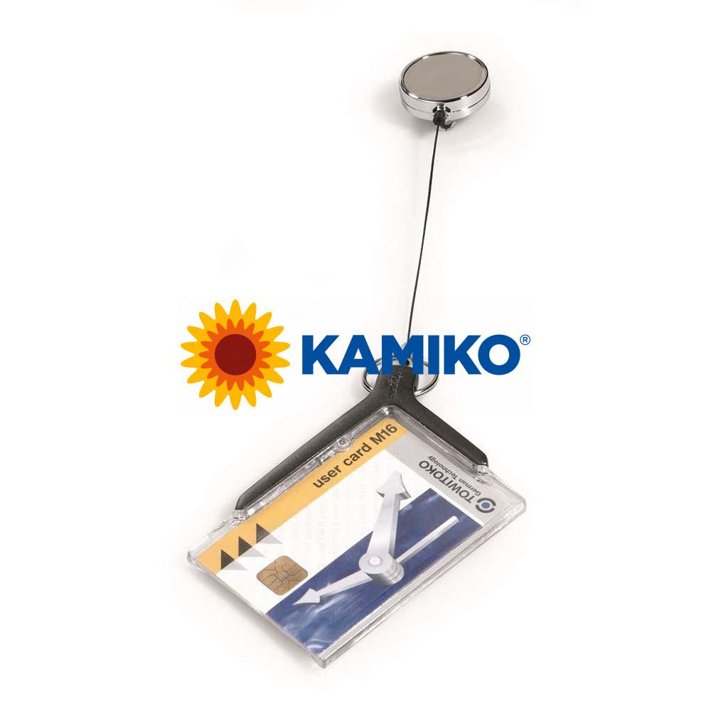Visačka na plastovú kartu s kotúčom DURABLE CARD HOLDER DE LUXE PRO 85 x 54 mm, 10 ks