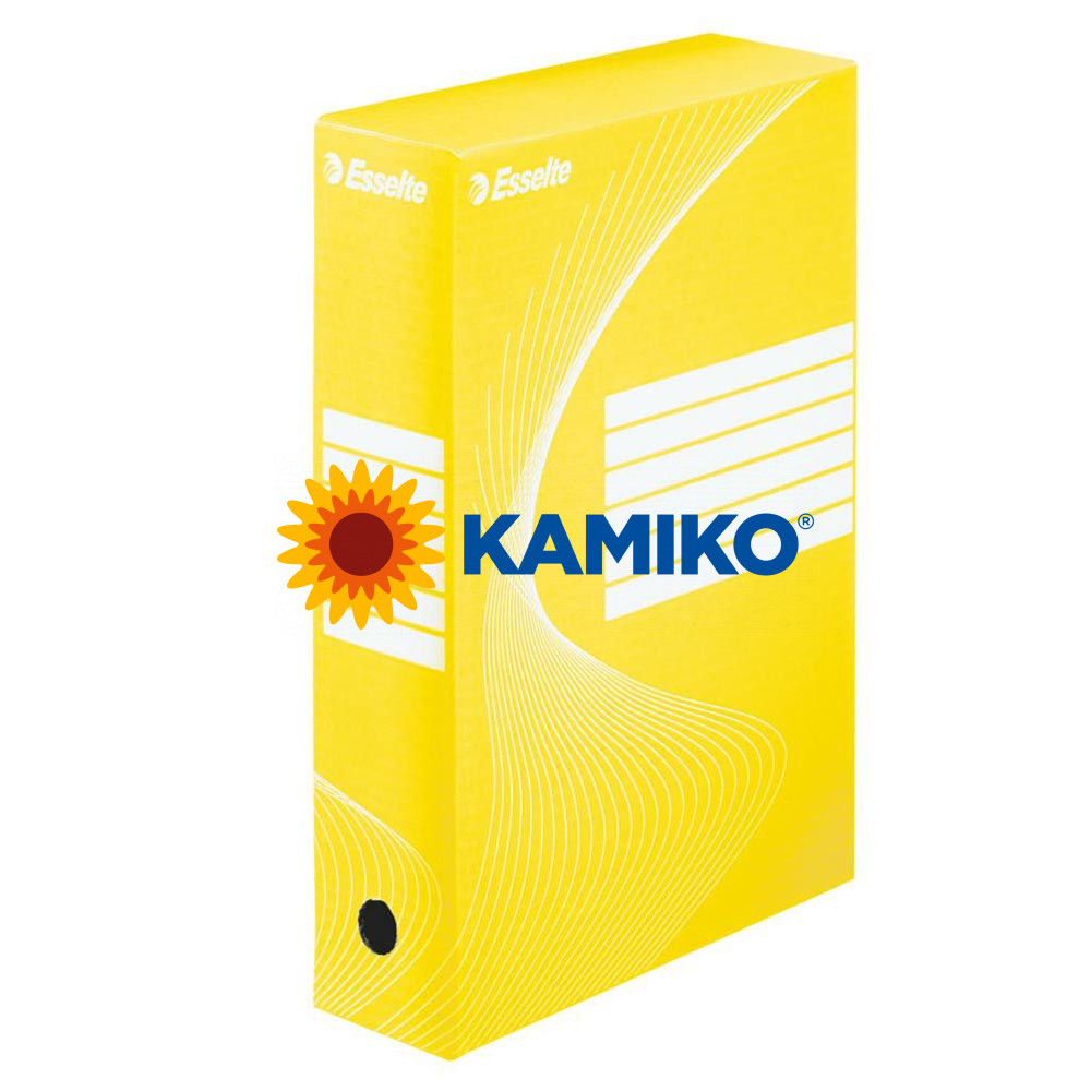 Archívny box Esselte 80 mm žltý/biely