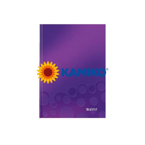 Záznamová kniha Leitz WOW A4 purpurová, 80 listov, linajková