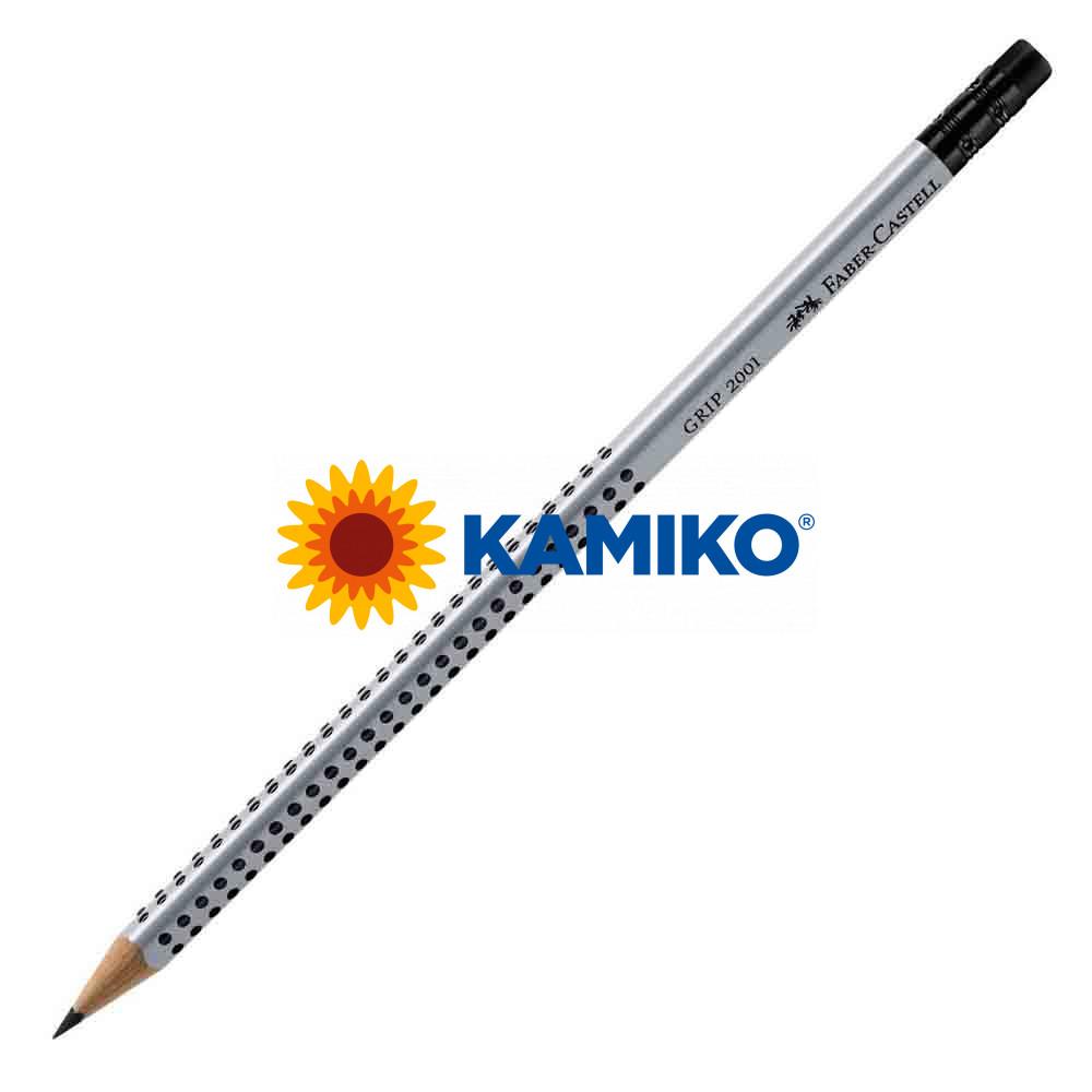 Ceruzka Faber Castell Grip 2001 HB s gumou, 12 ks