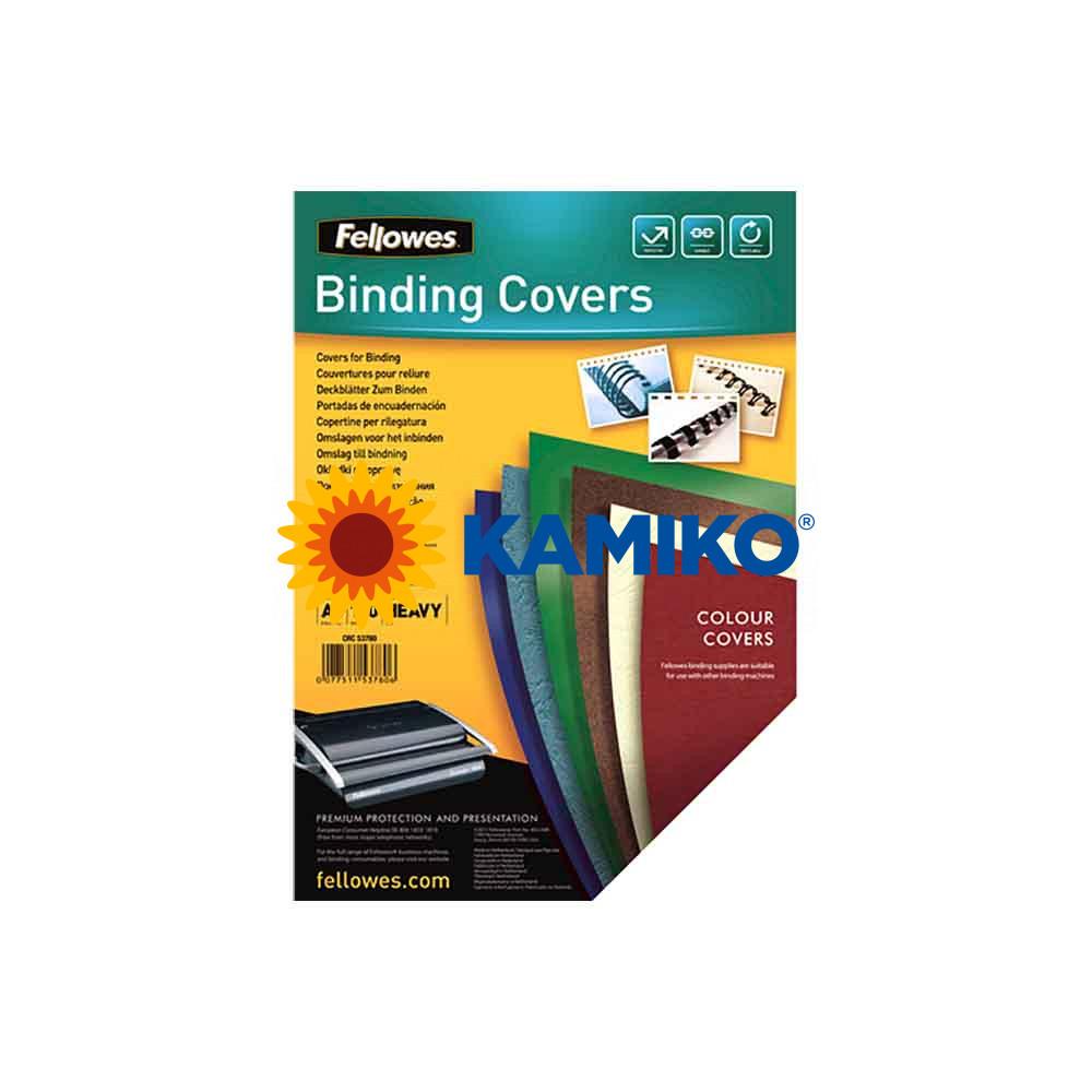 Kartónové obálky na krúžkovú väzbu Chromolux A4 biele