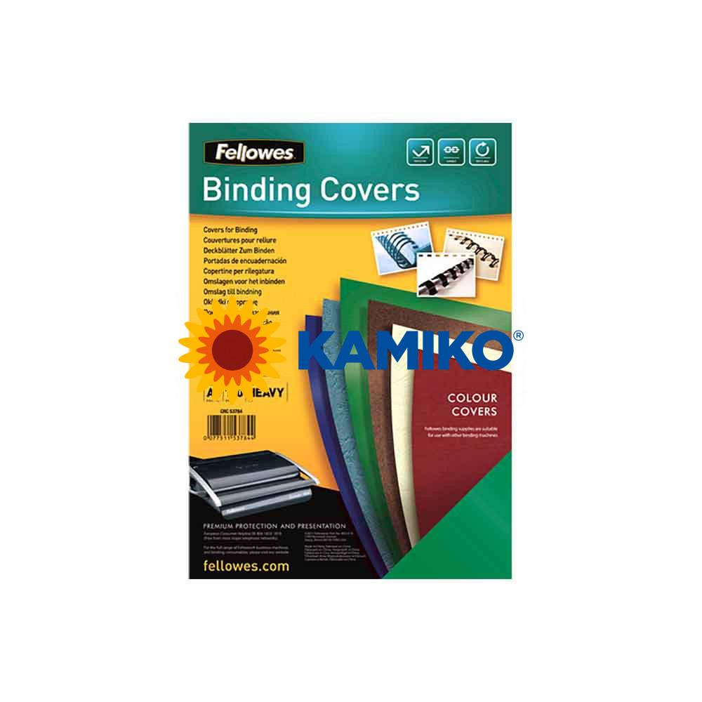 Kartónové obálky na krúžkovú väzbu Chromolux A4 zelené