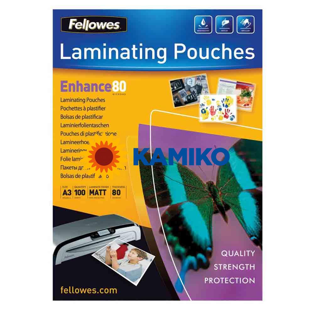 Laminovacie fólie Fellowes 303 x 426 mm, A3, 80 mic.