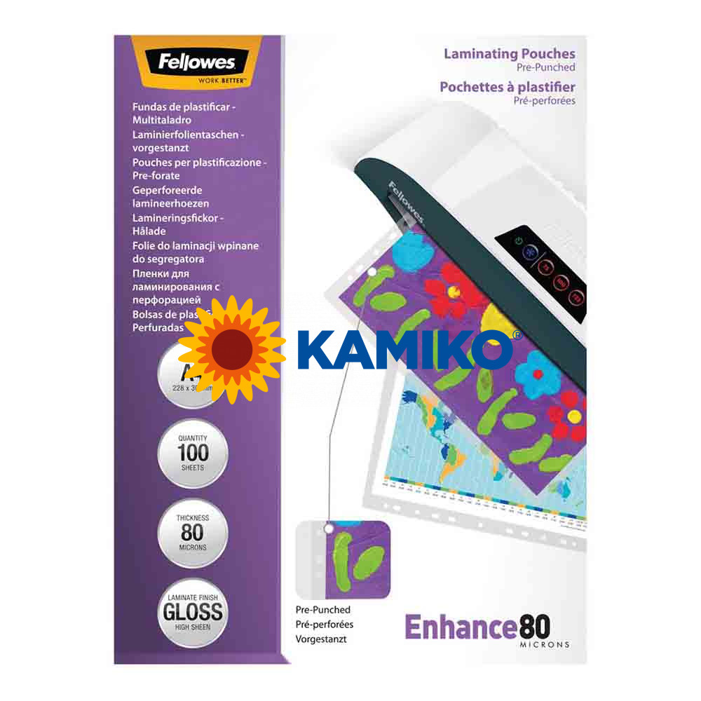 Laminovacie fólie Fellowes Filex 228 x 303 mm, A4, 80 mic.