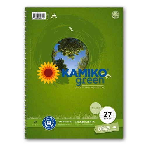 Blok College Format Werk Ursus Green A4, 70 g, 80 listov, linajkovaný