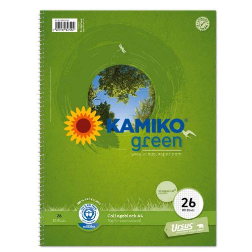 Blok College Format Werk Ursus Green A4, 70 g, 80 listov, štvorčekový