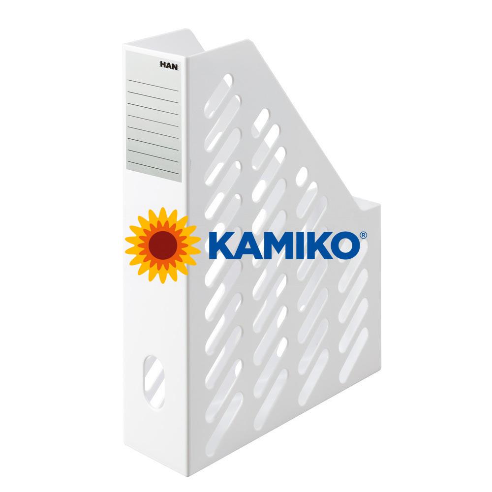 Stojan na časopisy KLASSIK 7,6 cm biely, 2 ks