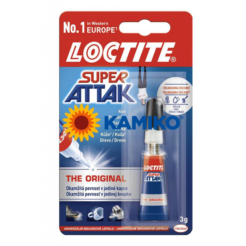 Sekundové lepidlo Loctite Super Attak the Original 3 g