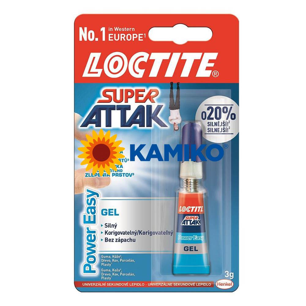 Sekundové lepidlo Loctite Super Attak Power Easy Gel 3 g