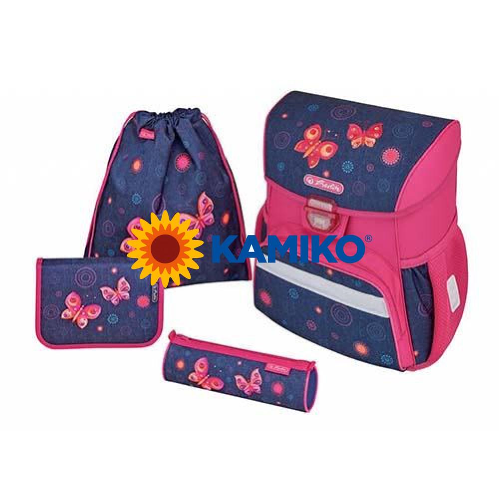 Školská taška Loop Motýle Herlitz sada
