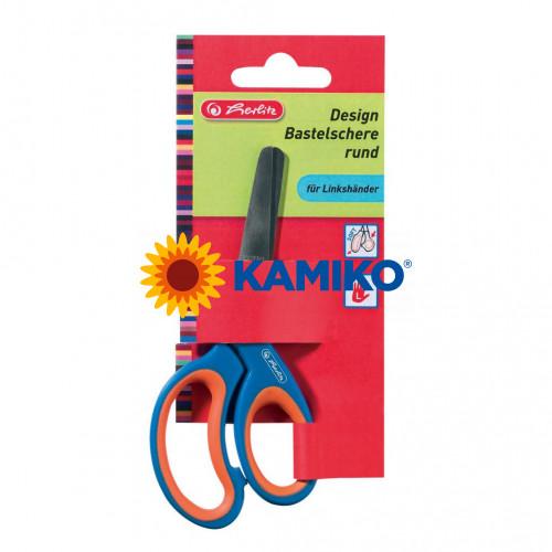 Nožnice Herlitz Design detské guľaté ergonomické pre ľavákov