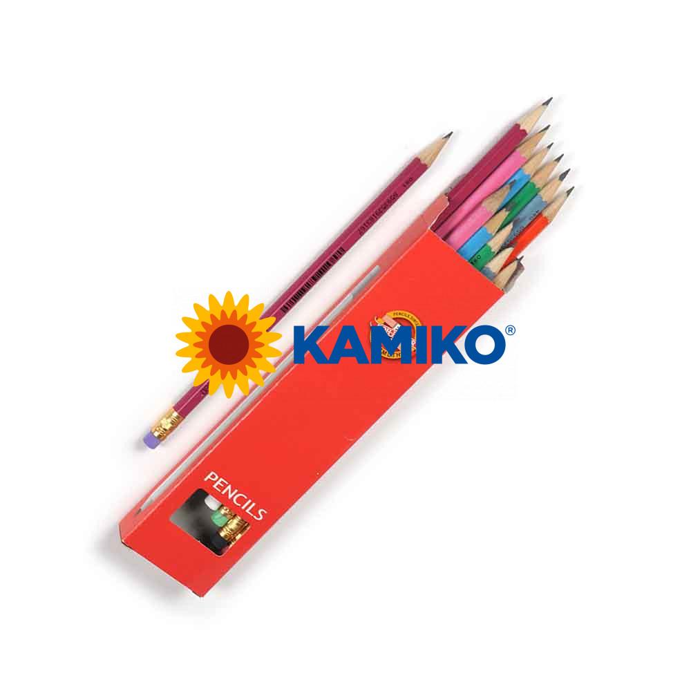 Ceruzka KOH-I-NOOR ASTRA 1380 s gumou, 12 ks