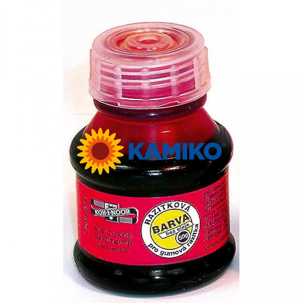 Pečiatková farba Koh-i-noor červená 50 ml