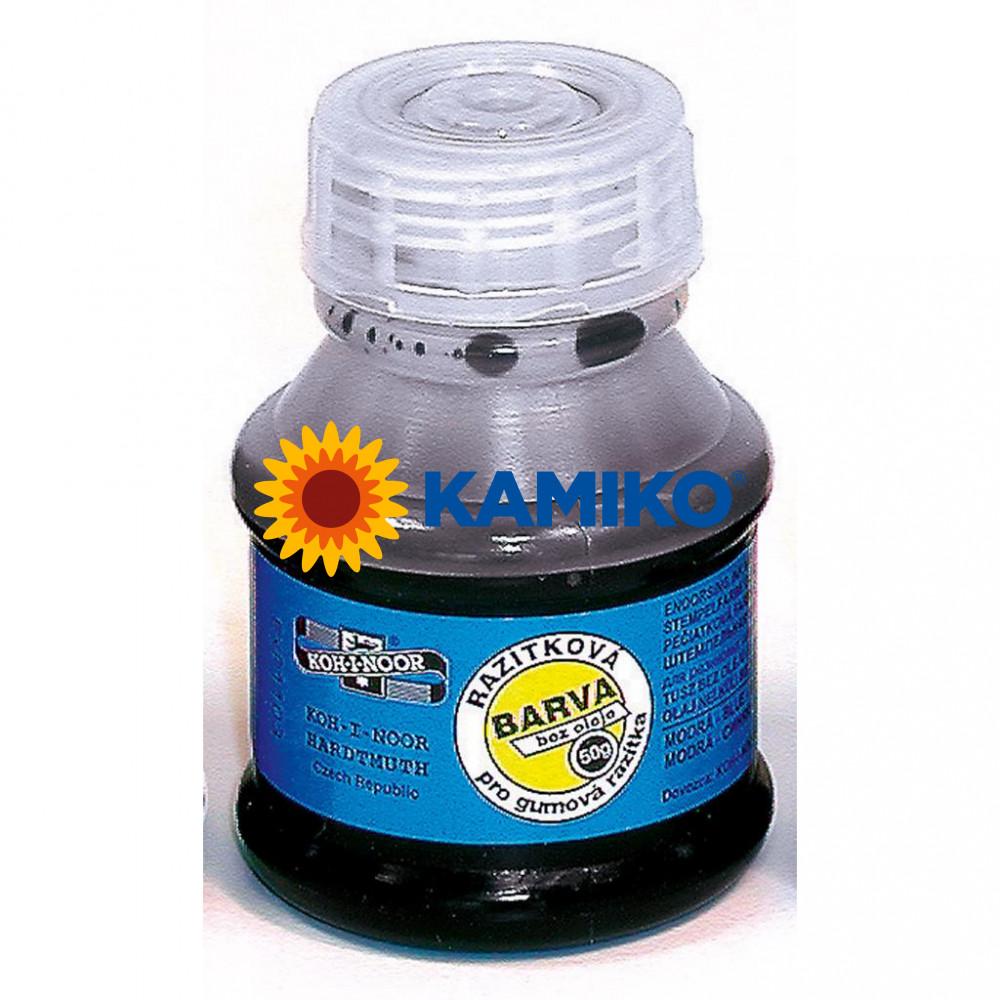 Pečiatková farba Koh-i-noor modrá 50 ml
