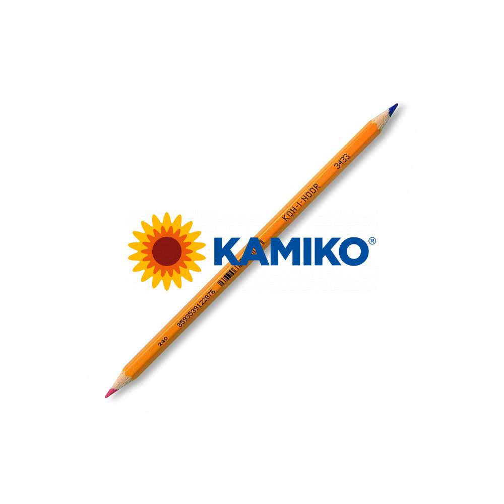 Ceruzka KOH-I-NOOR 3433 červeno/modrá, 12 ks