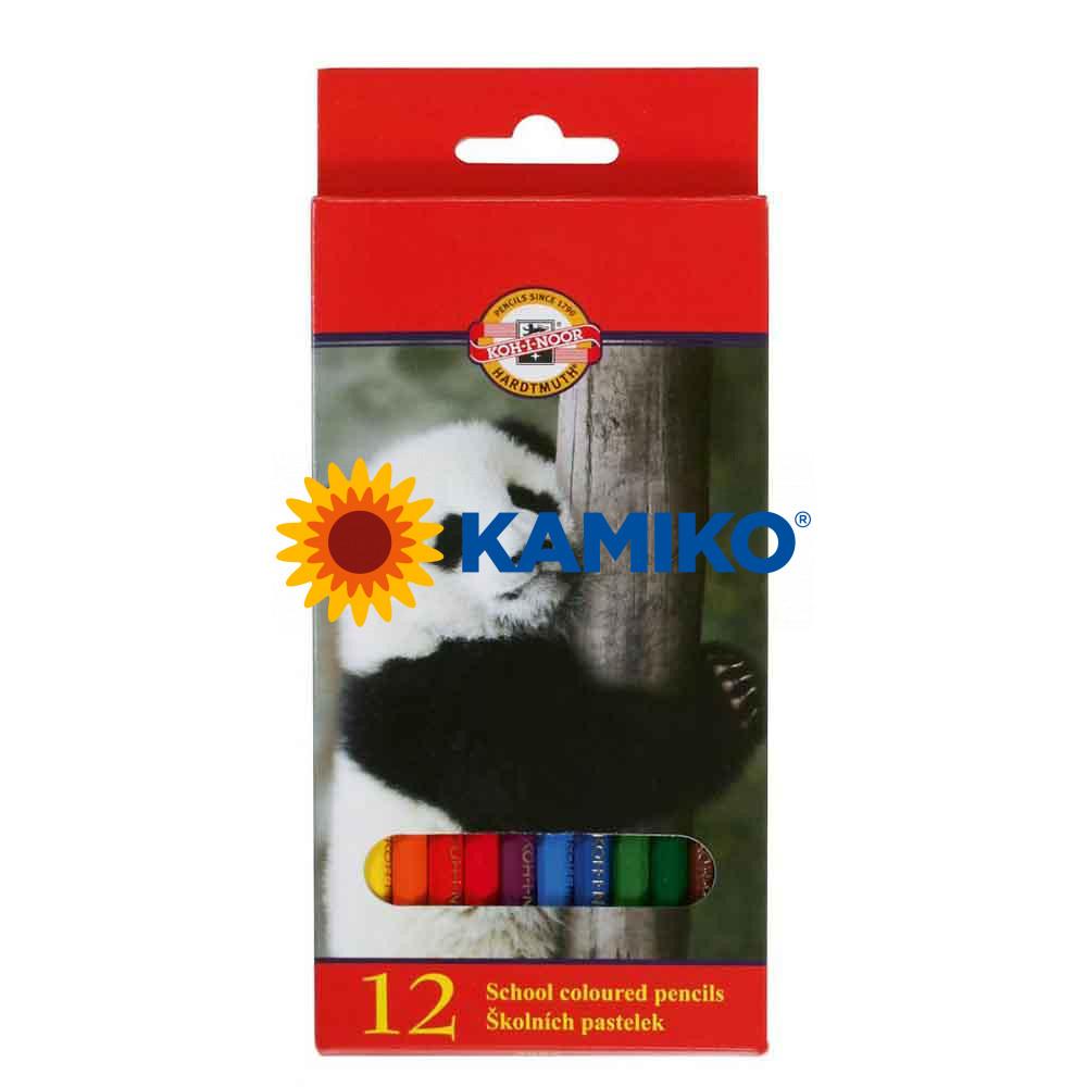 Farbičky KOH-I-NOOR 3552 drevené, 12 ks