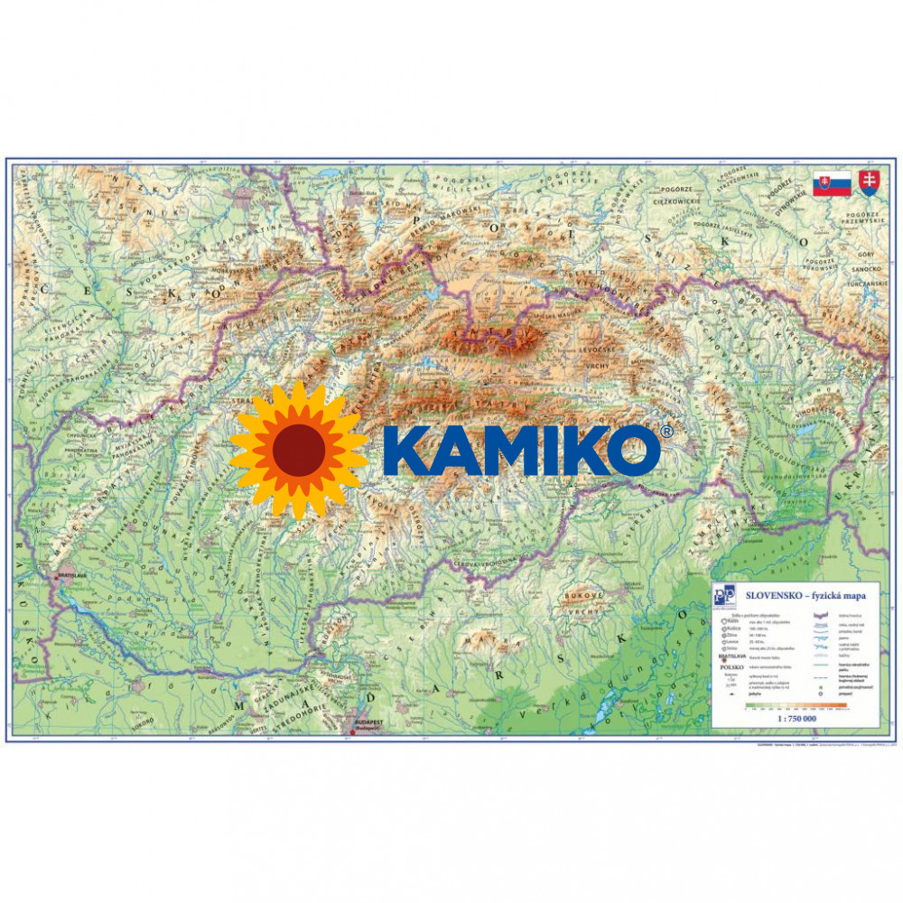 Podložka na stôl KARTPN PP s mapou Slovenska 40 x 60 cm