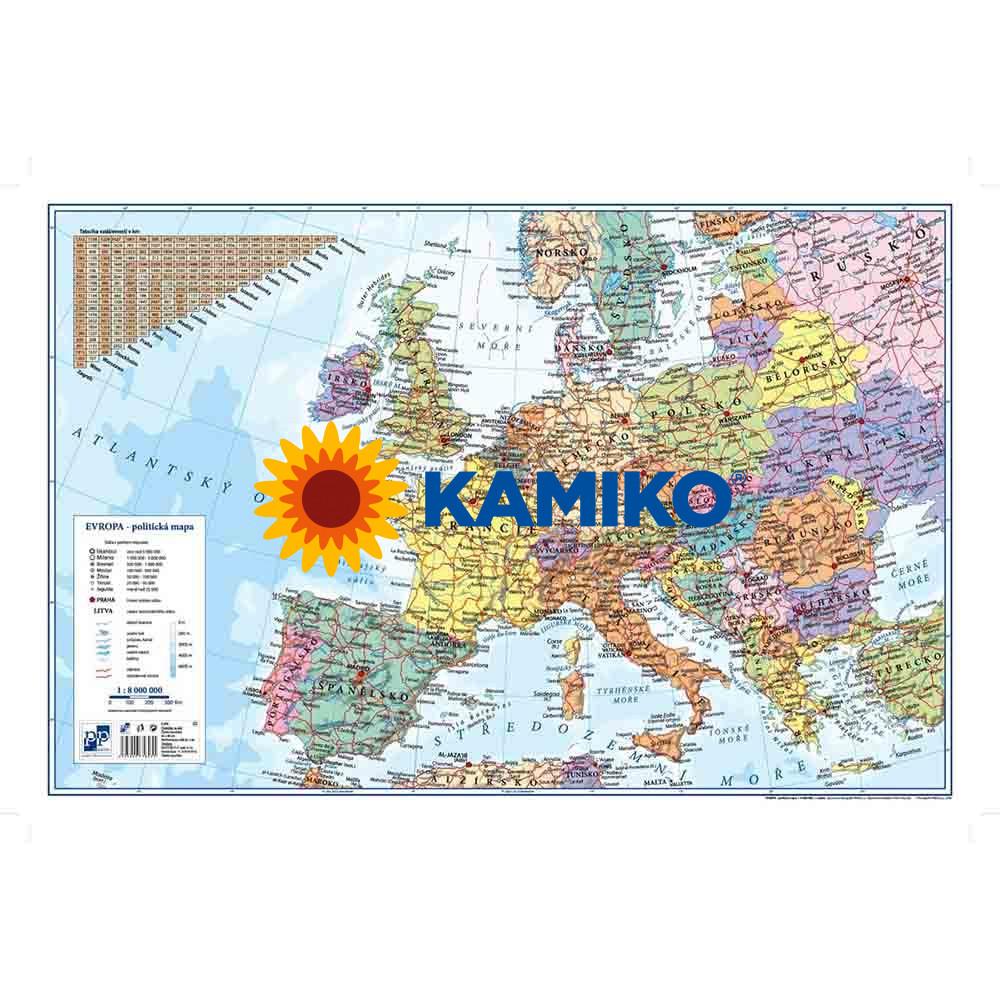 Podložka na stôl KARTON PP s mapou Európy 40 x 60 cm