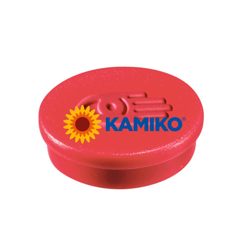 Magnet 20 mm červený, 10 ks