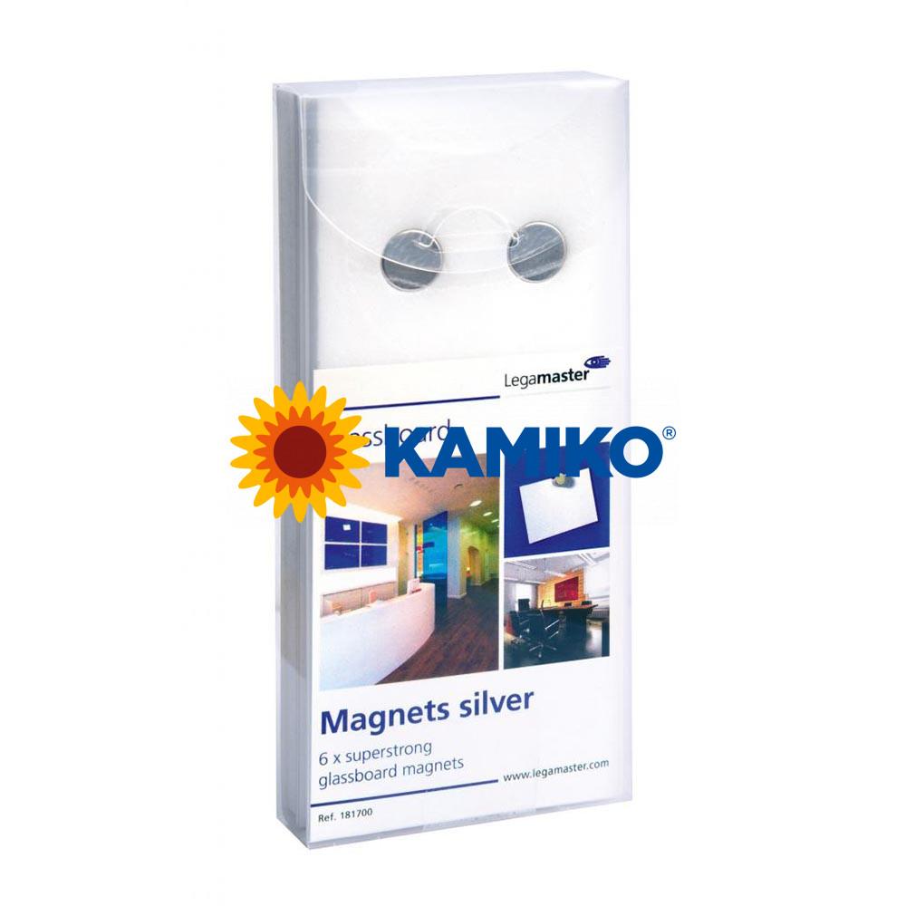 Magnet pre GLASSBOARD strieborný 12 mm, 6 ks