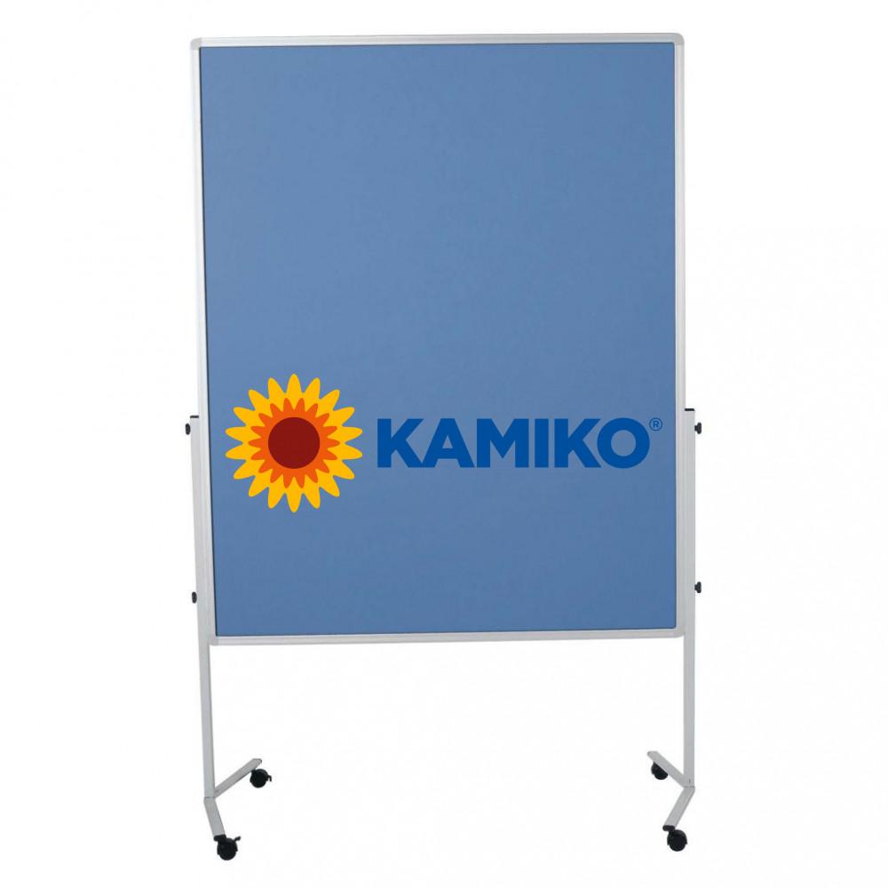 Moderačná tabuľa plstená PREMIUM 150 x 120 cm, modrosivá