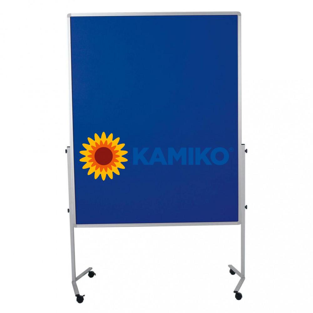 Moderačná tabuľa plstená PREMIUM 120 x 150 cm, tmavomodrá