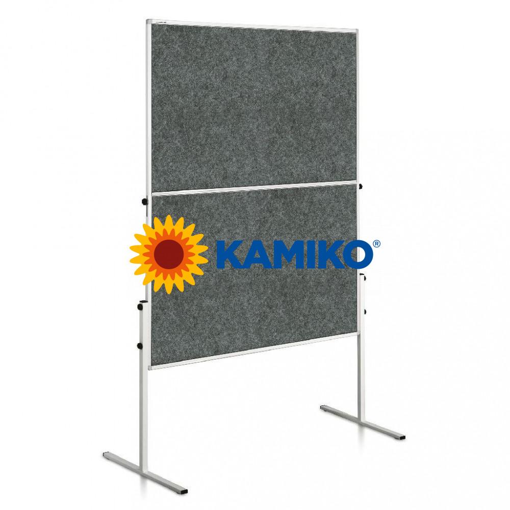 Moderačná tabuľa plstená ECONOMY 150 x 120 cm, sivá