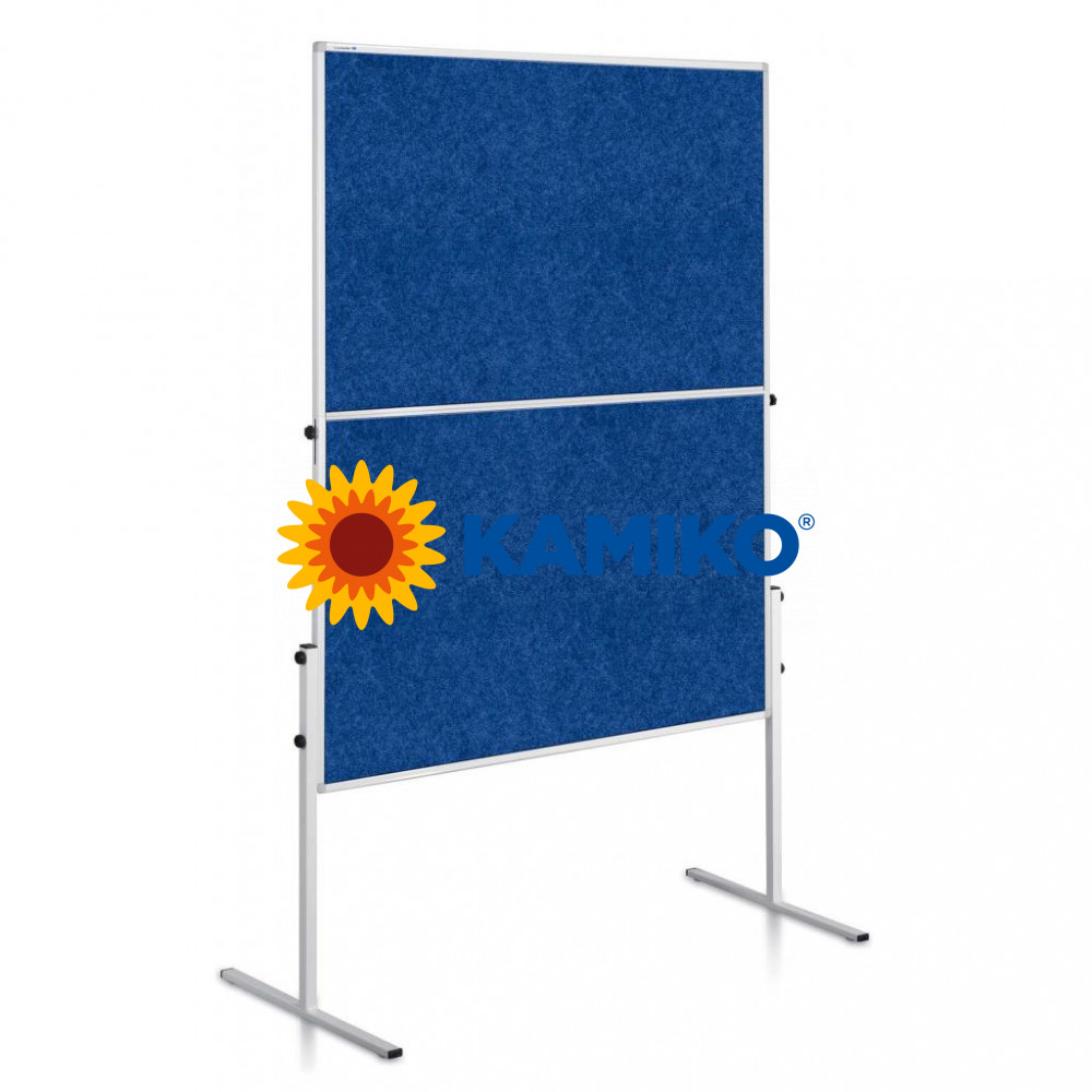 Moderačná tabuľa plstená ECONOMY 150 x 120 cm, modrá