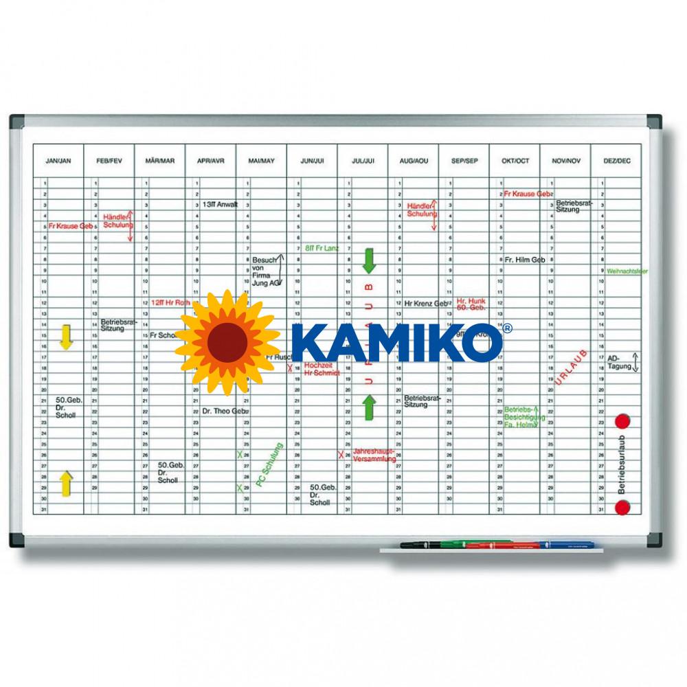 Plánovacia tabuľa ročná PREMIUM vertikálna 60 x 90 cm