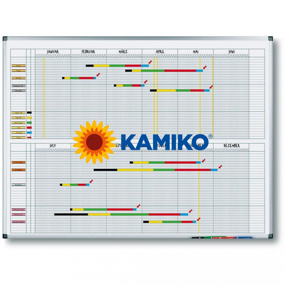 Plánovacia tabuľa ročná PREMIUM 90 x 120 cm