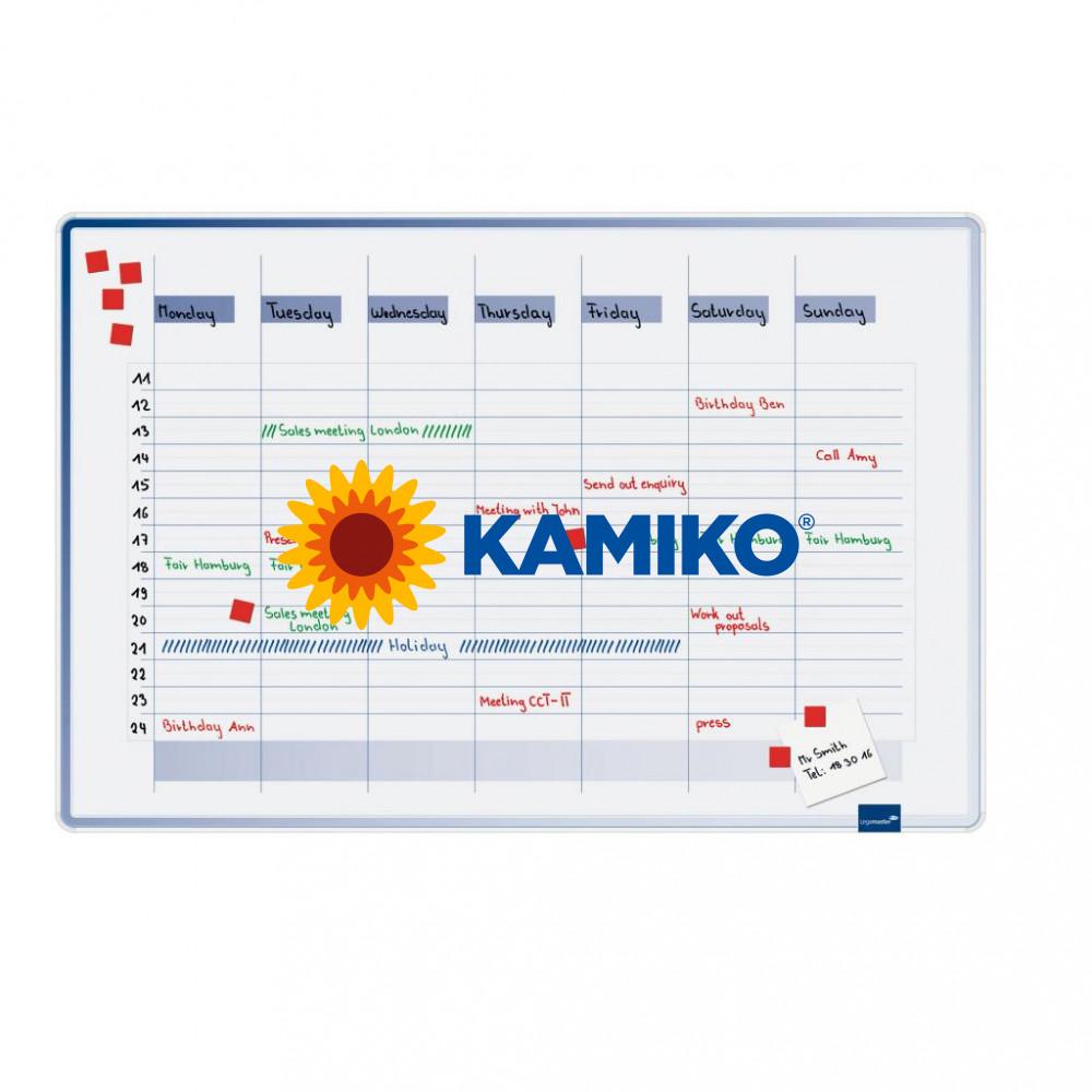 Plánovacia tabuľa týždenná ACCENTS 60 x 90 cm