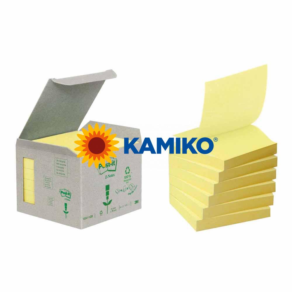 Samolepiaci recyklovaný Z-bloček Post-it žltý 76 x 76 mm