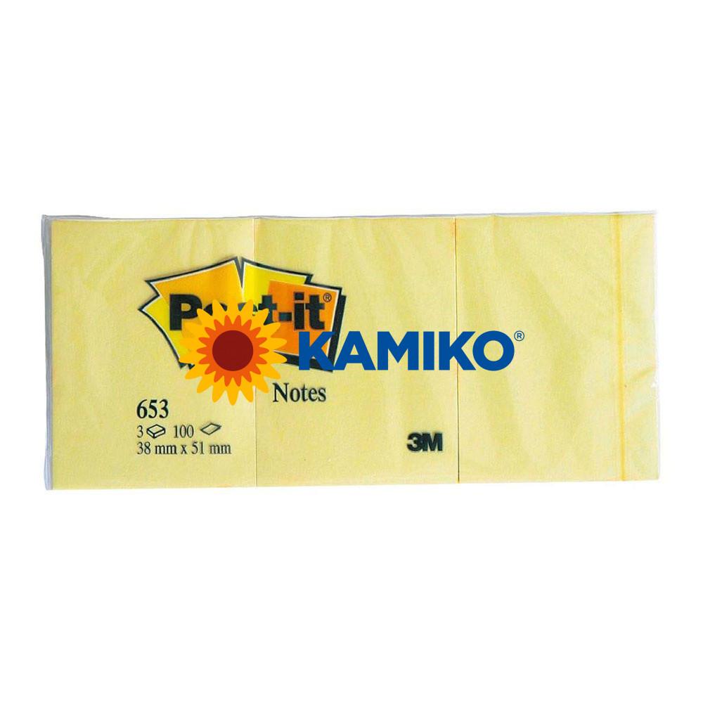 Samolepiaci bloček Post-it žltý 38 x 51 mm
